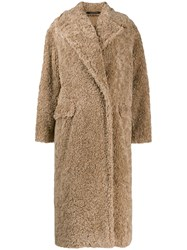Tagliatore Shearling Coat Neutrals