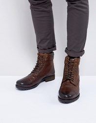 Kg By Kurt Geiger Rayn Lace Up Boots In Tan Tan