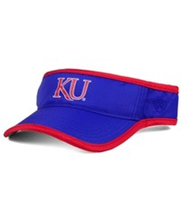 Top Of The World Kansas Jayhawks Baked Visor Royalblue