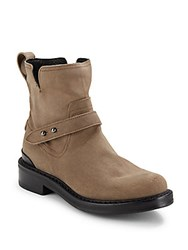 Rag And Bone Leather Moto Ankle Boots Stone Waxy