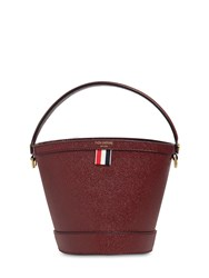 Thom Browne Sand Bucket Grained Leather Bag Bordeaux