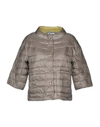 Bini Como Synthetic Down Jackets Dove Grey