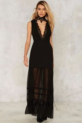 Nasty Gal Now You See Me Maxi Dress Black