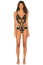 For Love And Lemons Ruby Cut Out Bodysuit Black