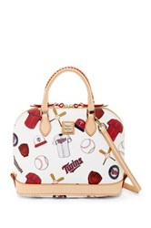 Dooney And Bourke Twins Zip Zip Satchel White