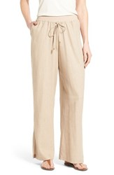 Women's Bobeau Wide Leg Linen Blend Pants