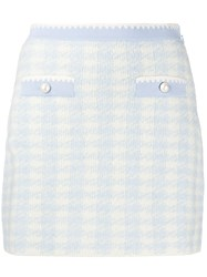 Miu Miu Knitted Dogtooth Pattern Skirt 60