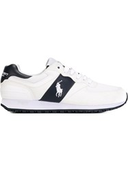 Polo Ralph Lauren Paneled Lace Up Sneakers White