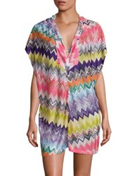 Missoni Mare Hooded Short Beach Cover Up Multicolor