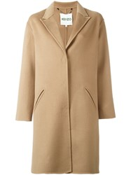 Kenzo Single Breasted Coat Nude Neutrals