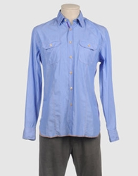 Arnold Zimberg Long Sleeve Shirts Sky Blue