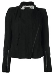 Ann Demeulemeester Blanche Off Centre Zip Jacket Black
