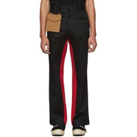 Palm Angels Black And Red Pocket Trousers