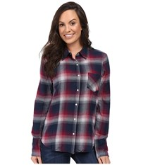 Stetson Pomegrante Plaid Western Shirt Red Women's Clothing