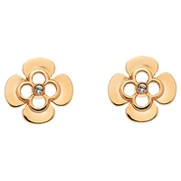 Finesse Rose Gold Plated Swarovski Crystal Flower Stud Earrings Rose Gold