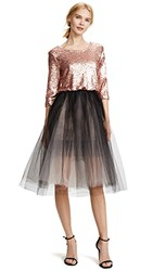 Loyd Ford Sequin Tulle Petticoat Dress Pink Grey Black