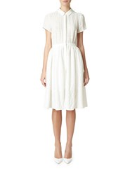 Erin Fetherston Tonal Stripe A Line Shirt Dress Ivory