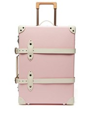 Globe Trotter Riviera Centenary 20 Cabin Suitcase Pink White