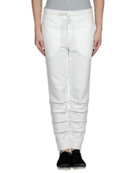Band Of Outsiders Casual Pants White