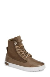 Blackstone Ql46 Genuine Shearling Lined Sneaker Boot Moss Leather