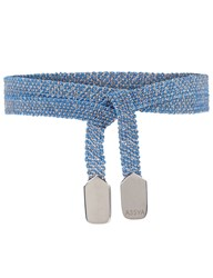 Assya Sky Blue And Silver Wrap Bracelet Light Blue