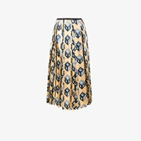 Gucci Wallpaper Pleated Skirt Yellow And Orange