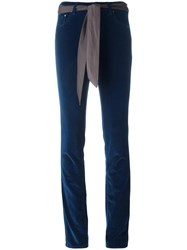 Jacob Cohen 'Mod Velvet' Skinny Trousers Blue