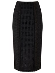 Precis Petite Elora Embroidery Pencil Skirt Black