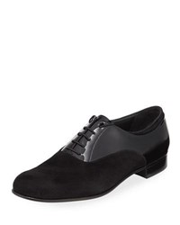 Gravati Suede And Patent Leather Oxford Black
