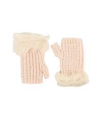 Ugg Crochet Gloves W Lurex Sequins Toscana Trim Freshwater Pearl Multi Extreme Cold Weather Gloves White