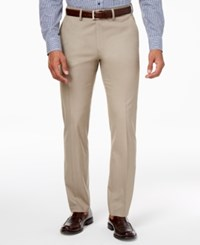 Kenneth Cole Reaction Men's Slim Fit Stretch Dress Pants Only At Macy's Oatmeal