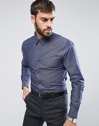 New Look Regular Fit Shirt With Dot Print In Navy Navy