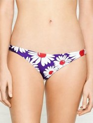 Wildfox Couture Daisy And Stripes Reversible Twist Bikini Bottom Blue
