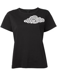 Marc Jacobs Embroidered Cloud Classic T Shirt Women Cotton S Black