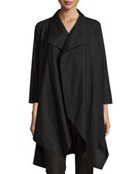 Lafayette 148 New York Open Front Oversized Cardigan Black