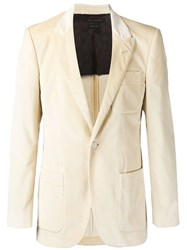 Marc Jacobs Velvet Blazer Nude And Neutrals