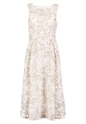Adrianna Papell Cocktail Dress Party Dress Ivory Gold