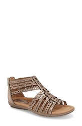 Women's Earth 'Bay' Leather Sandal Champagne Metallic Leather