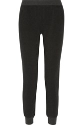 Atm Anthony Thomas Melillo French Cotton Blend Terry Slim Leg Pants Anthracite