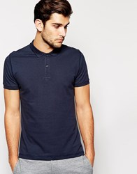 Dkny Short Sleeve Logo Polo Shirt Navy