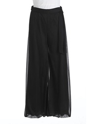 Cachet Wide Leg Chiffon Dress Pants Black