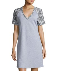 Cosabella Sterling Short Sleeve Gown Heather Gray