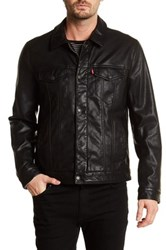 Levi's Classic Trucker Faux Leather Jacket Black