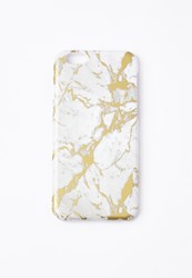 Missguided Gold Marble Iphone 6 Case Multi