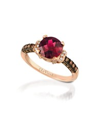 Le Vian 0.56Tcw Diamonds Rhodolite And 14K Rose Gold Chocolatier Ring
