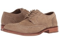 Trask Logan Taupe Suede Lace Up Cap Toe Shoes