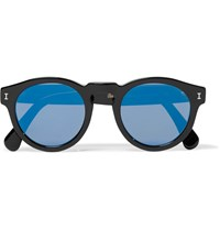 Illesteva Leonard D Frame Acetate Mirrored Sunglasses Black