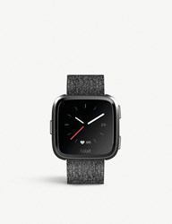 Fitbit Versa Smartwatch In Special Edition Charcoal Woven