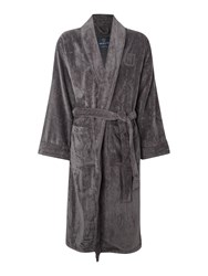 Howick Men's Plain Towelling Robe Charcoal
