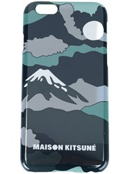 Maison Kitsune Mount Fuji Iphone 6 Cover Case Multicolour